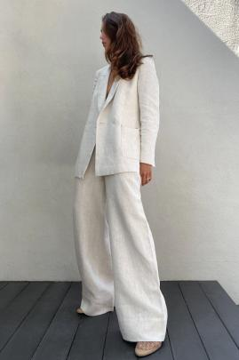The all natural Crescent Linen Pant designed by emerging New Zealand designer Caitlin Crisp ,...