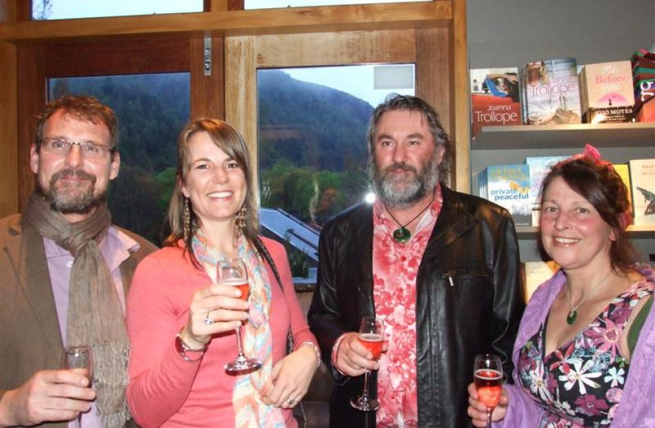 Attendees (from left) Nic Soper,  of Arrowtown, Carla Spring, of Arrowtown, and Dave van der Zwet...