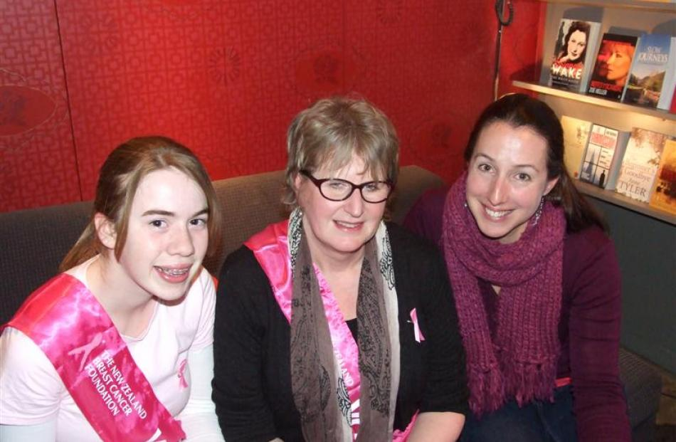 Fundraisers (from left) Megan Hughes,   Linda Harrison and Hayley Delport, all of Arrowtown.