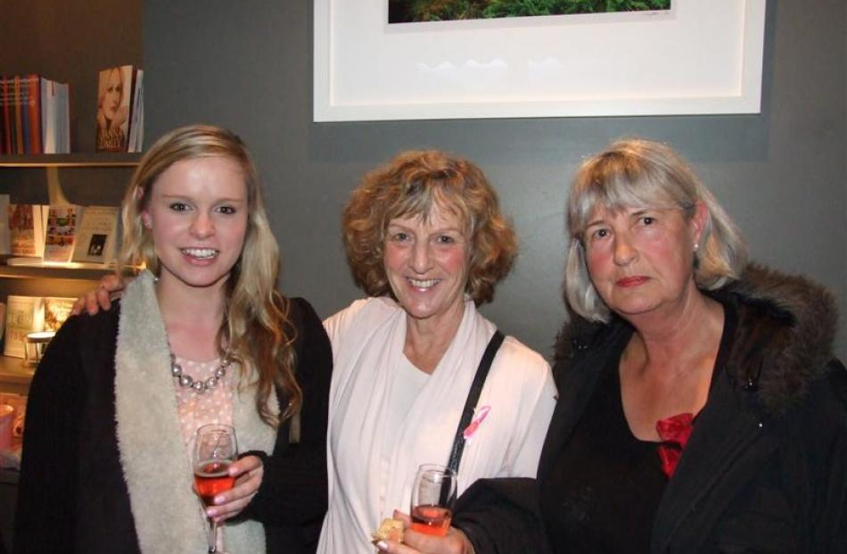 Guests (from left) Paige Jackson-Smith,  Lindsey Jackson and Toni Okkerse, all of Queenstown....