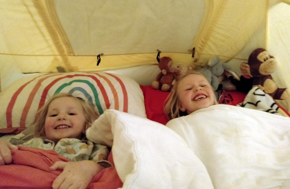 For Alexis (6) and Cassidy (3) Nagelkerken, of Otautau, it was fun having the tent set up in...