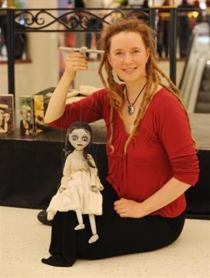 Asphyxia, with her marionette Martha Brimstone, previews her show <i>Hatched</i> at the Meridian...
