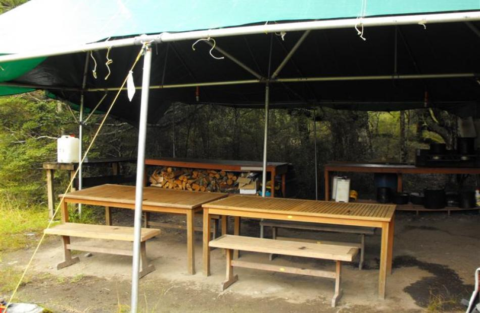 The first of two glamping sites near the Landsborough River.