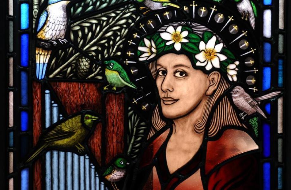 Dame Kiri Te Kanawa appears as St Cecilia, the patron saint of music. She embodies the cultural...