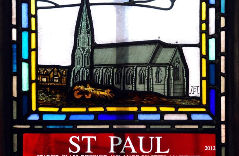 The original St Paul's Cathedral is shown in its original position closer to the road through the...