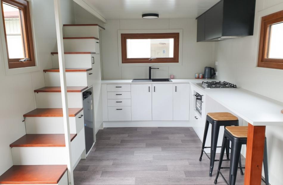 Completed kitchen - 1st Tiny House