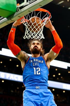 Steven Adams. PHOTO: GETTY IMAGES