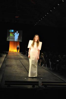 From Otago Polytechnic School of Design (Fashion) second-year student, Lauren Arthur. Photo by...