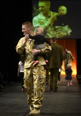 Margo, 10-month-old daughter of Miracle's co-owner Harriet Moir, takes to the catwalk in the safe...
