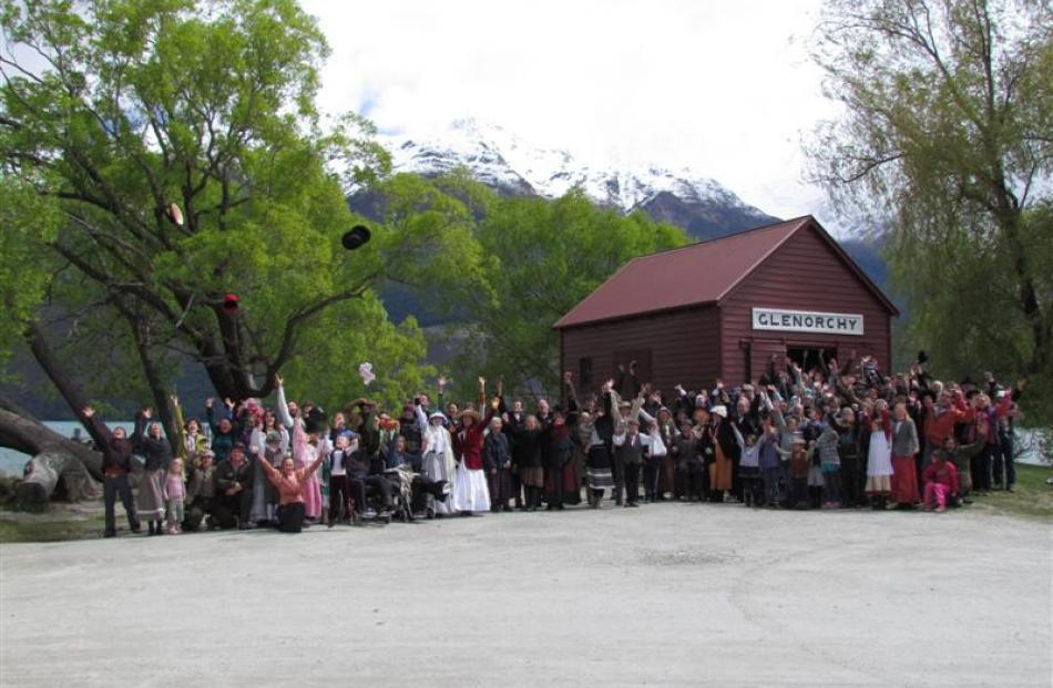 To mark Glenorchy's 150th anniversary, a mass photo was taken with residents, visitors and the ...