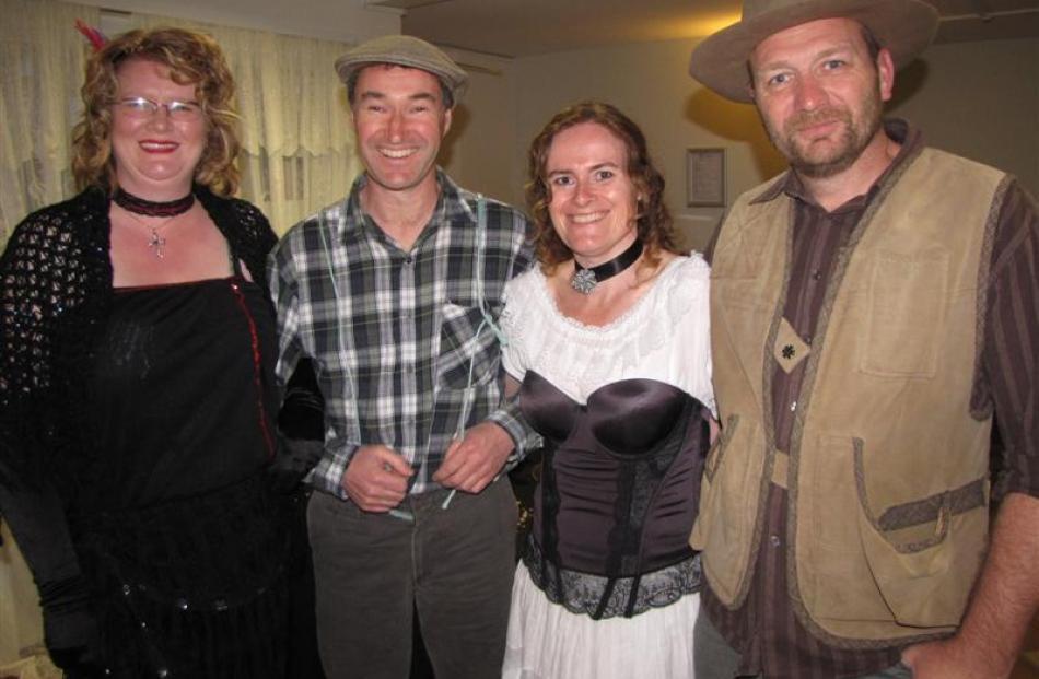 Former Buckingham Belle Wendy Sneddon (left) with her husband, Alister,  of Mosgiel, and Linda...