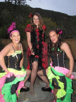 From left, Stacy McTaggart, of Arrowtown, Melody Dickinson,  of Queenstown, and Aroha Ratana,  of...