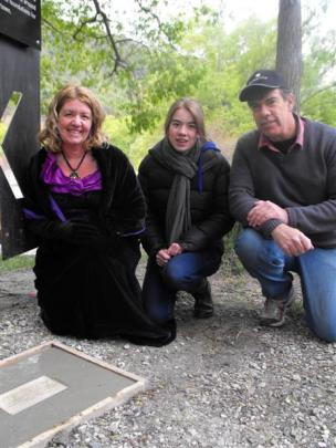 Arrowtown Gold 150 organiser Julie Hughes, of Arrowtown, with her daughter Megan (15) and husband...