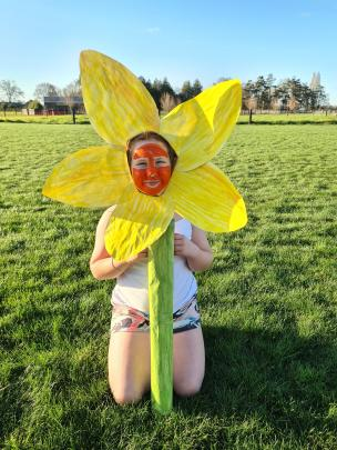 Longbeach junior Zara Redwood is at one with nature in her wearable art picture.