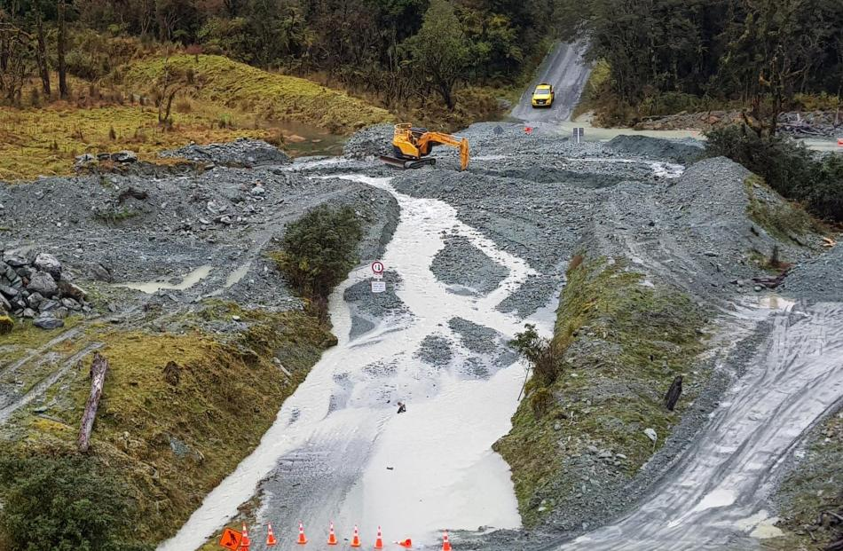 Bridges on the Hollyford Rd were washed away, a number of side creeks blocked bridges and some...