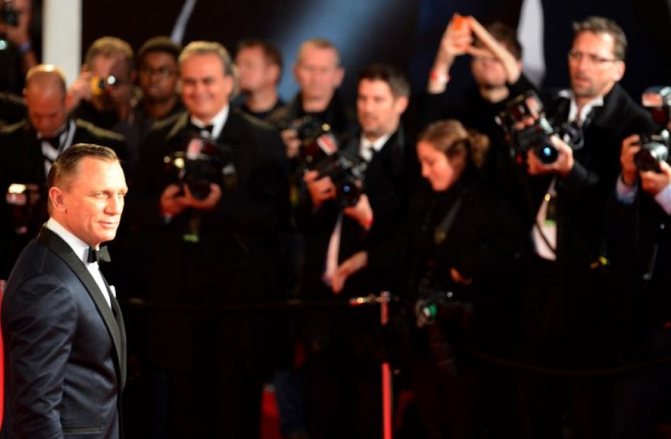 Actor Daniel Craig arrives for the royal world premiere of the new James Bond film 'Skyfall' at...