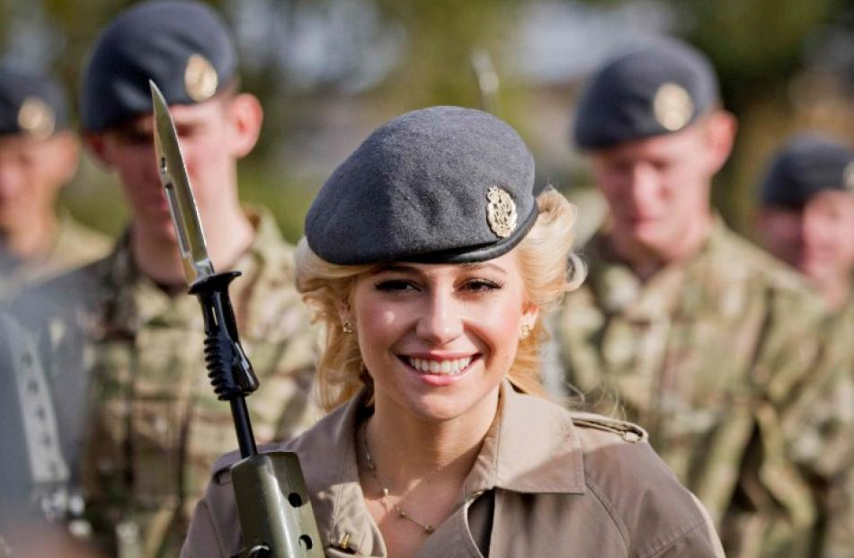British singer Pixie Lott visits RAF Northolt to meet members of The Royal Air Force and their...