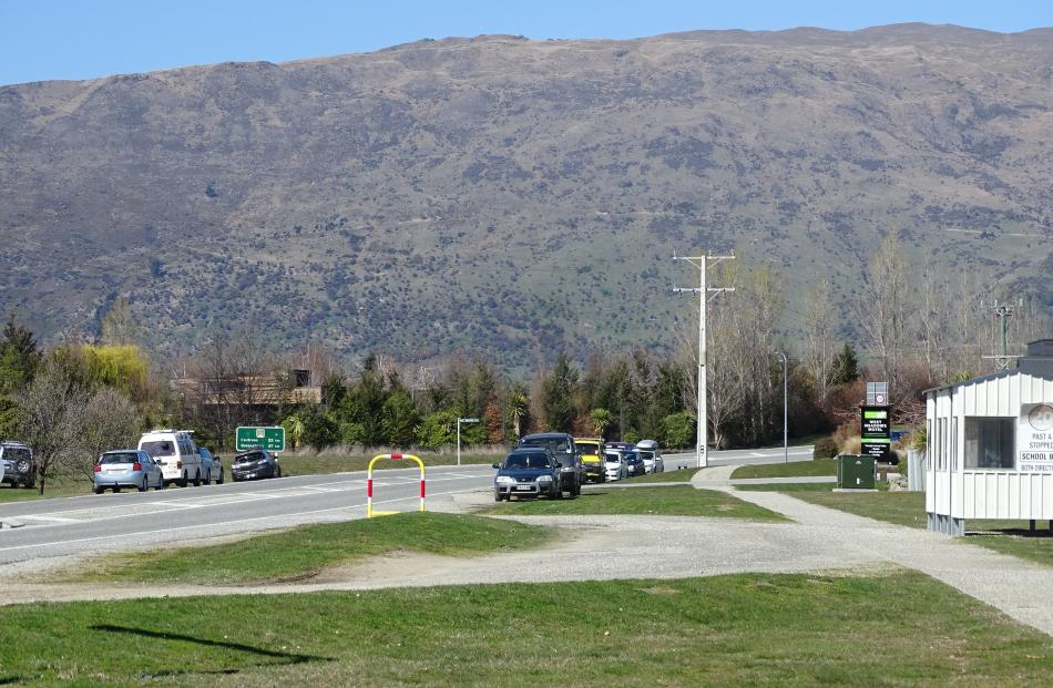 Cardrona Alpine Resort staff park on either side of Cardrona Valley Rd and along West Meadows Dr...