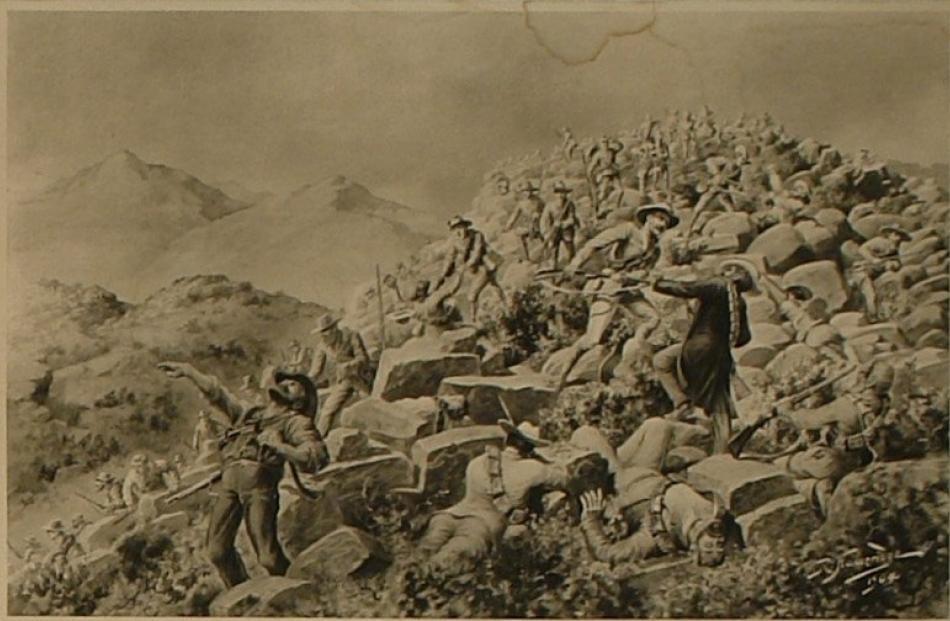 Robert Hawcridge's painting 'The action at Slingersfontein'