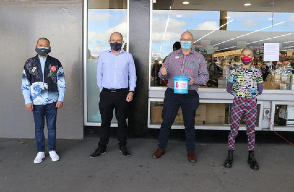 Etan Taner, Ross Martin, Marc Brokenshire and Jess Scarsbrook sporting their new looks.
