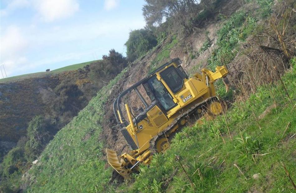 A John Deere 850 C bulldozer, recently imported from Texas. Photo by Geoff Scurr Contracting.