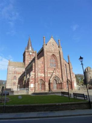 St Magnus Cathedral in Kirkwall.