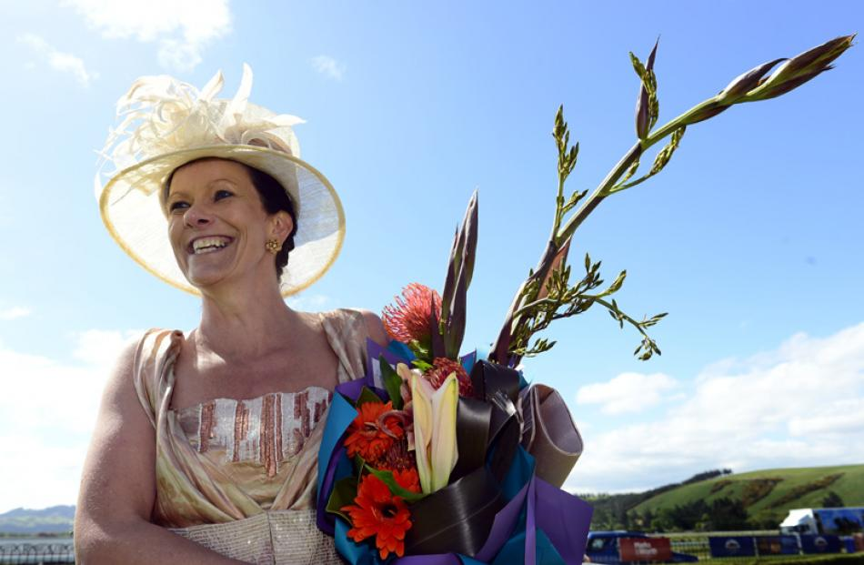 Winner of the Fashion on the Field, Maree Darling of Mosgiel.