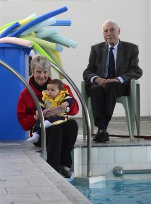 Professor Edwin Nye (86), who pioneered hydrotherapy for coronary patients, and Blake Hawtin (9...