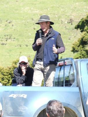 Alan Stewart outlines the history of Leithen Valley Trophy Hunts, watched by daughter Rachel,...