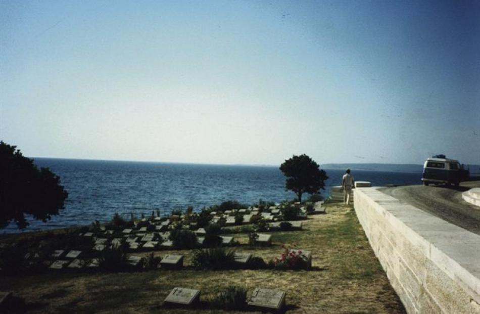 Graves at Gallipoli, Turkey.