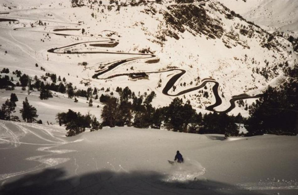Looking towards the Andorra ski field from the Kombi parking spot.