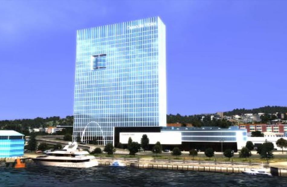 The proposed waterfront hotel.