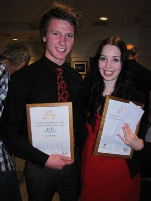Wakatipu High School pupils Levi Healey and Caitlin Jack (both 18) were finalists in the youth...