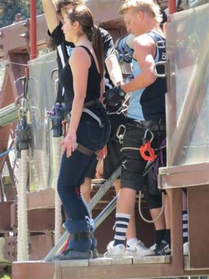 KingsView School principal Rebekah Key confronted her fear and bungy jumped.