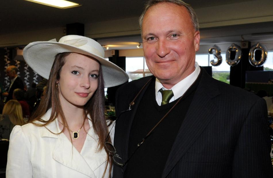 Sarah (16) and her father Steve Atkins, of Dunedin.