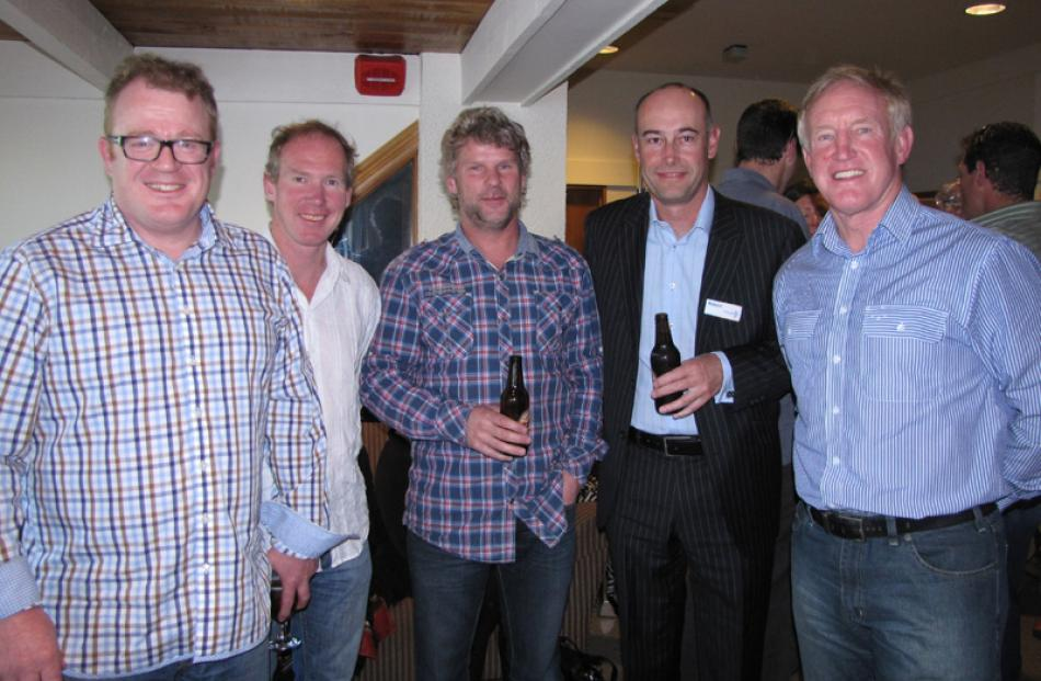 Clark Frew of Arrowtown, Damien O'Connor of Queenstown, Rob Ffiske of Arrowtown, Robert Farron of...