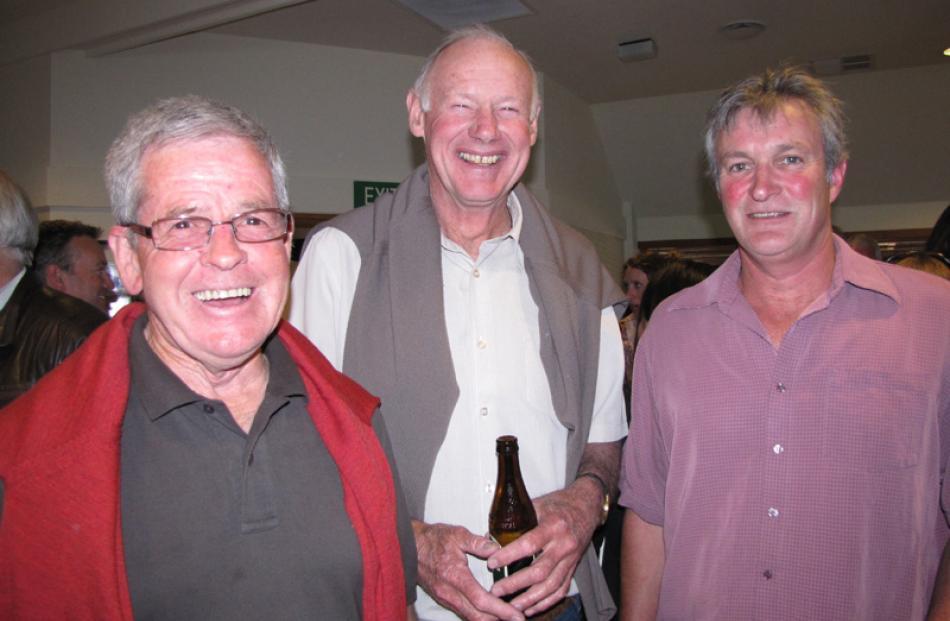 Jim Miller, John Barlow and Andrew Penniket, all of Wanaka.