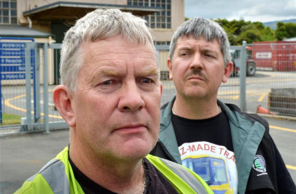 Hillside workers Les Ingram (left) and Stuart Johnstone are pessimistic about their chances of...