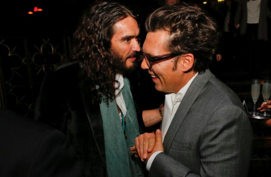 Russell Brand and director Joe Wright attend the after party for the premiere of the movie 'Anna...