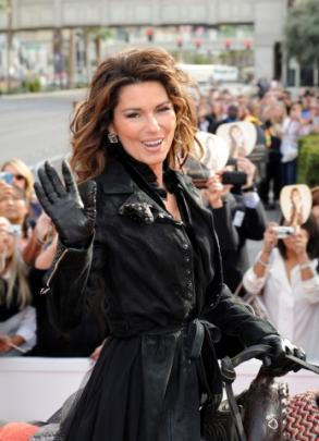 Shania Twain enters the Las Vegas Strip on horseback to promote her two-year residency at The...