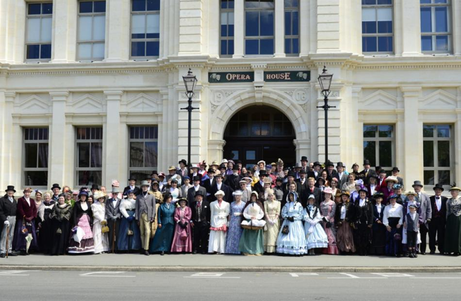 Group photo outside the Oamaru Opera House.