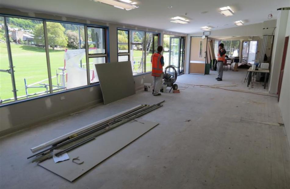 The supper room is to be repainted and refurbished and  the bar area  tidied.