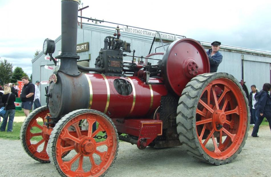 Mark Tutty and his traction engine.