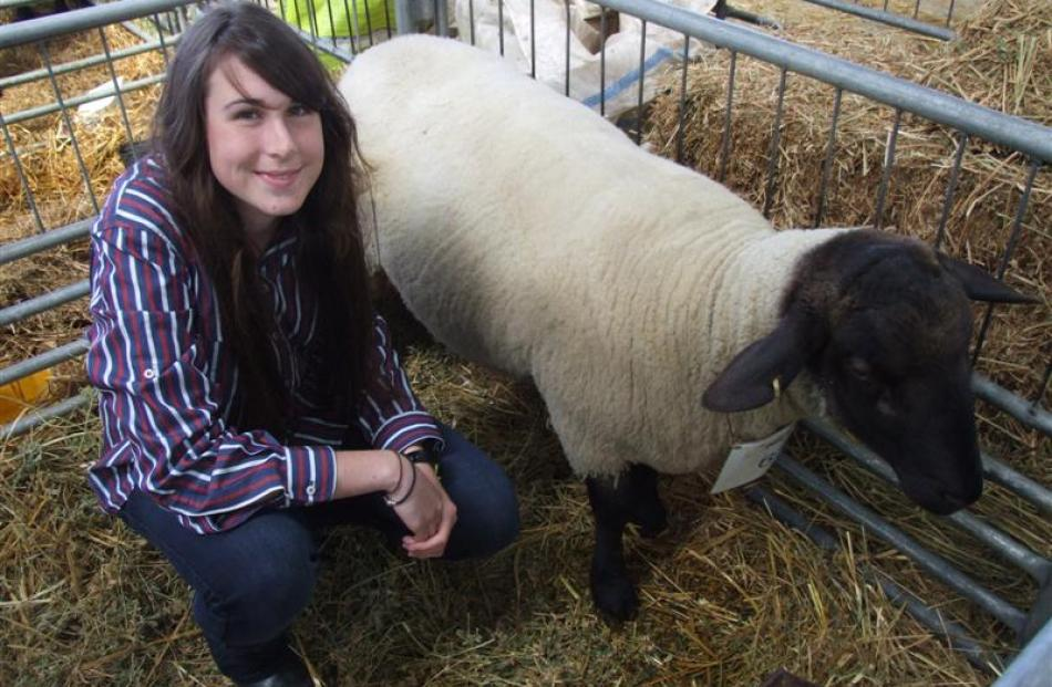 Middlemarch teenager Jodie Gibson is continuing a family interest in stud breeding.
