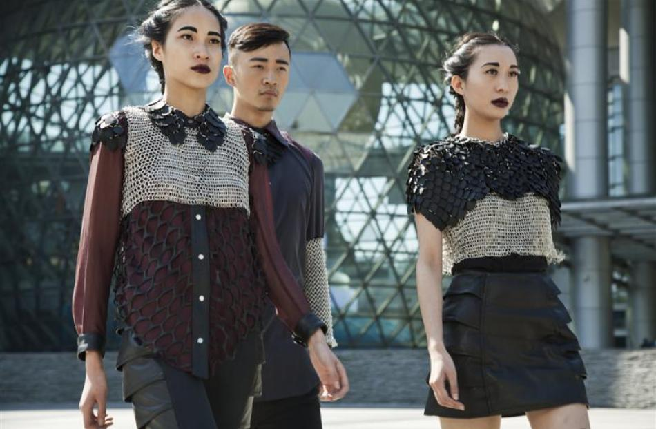 Designs by Otago Polytechnic student Hortense Rothery, captured in Shanghai.
