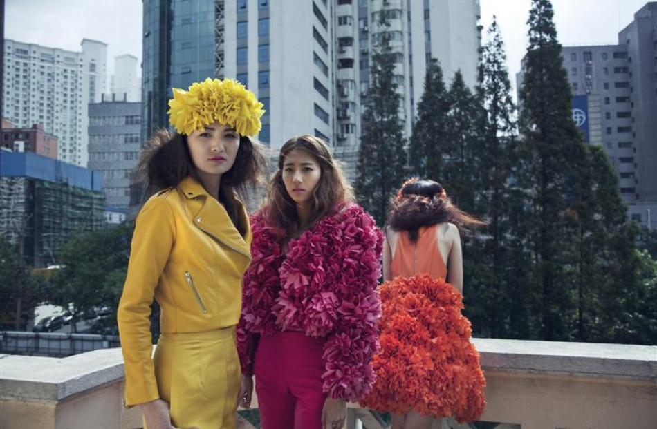 Otago Polytechnic student Olivia Bloxham's designs, in Shanghai.