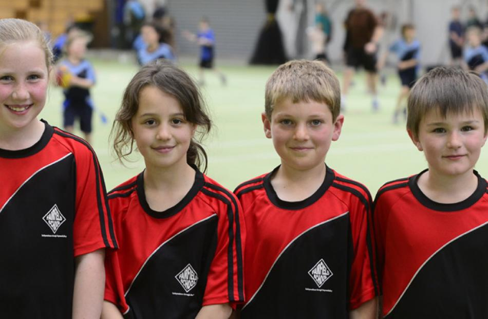 Courtney Henderson (9), Caitlin McLellan (9) Josh MacDonald (8) and Liam Grellet (7) all of...