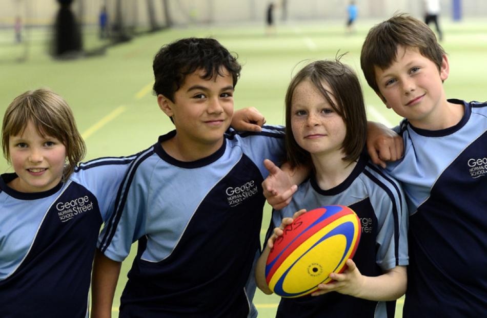 Isabella Sander (9), Jordyn Rouvi-Hammond (8) Josh Rudland (9) and Ben Paku (9) all of George...