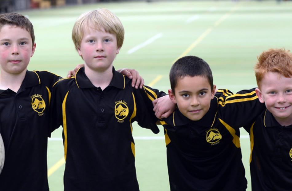 Rory Hibbert (8), Shaun Campbell (8), Duncan Manfrianti (7) and Ben Sinclare (7) all of Broad Bay...