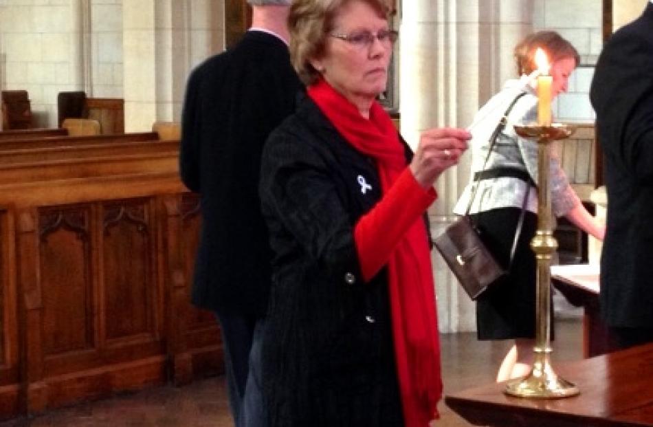 White Ribbon supporter Lesley Elliott, the mother of murdered Dunedin woman Sophie Elliott,...